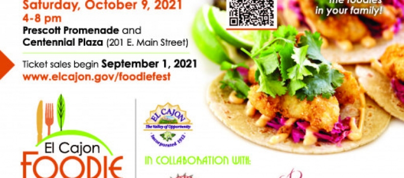Foodie Fest Coming to City of El Cajon on Saturday, October 9