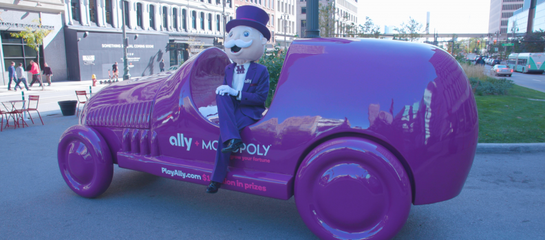 It's Still Game On in Detroit: Ally Turns Detroit into Live MONOPOLY® Gameboard to Help People Grow Their Fortune